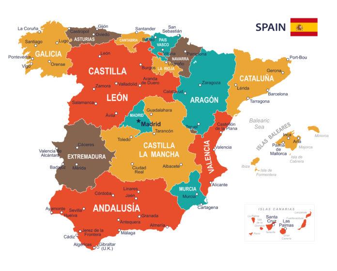 Cartina Muta Spagna Con Regioni.Torino Cartina Politica